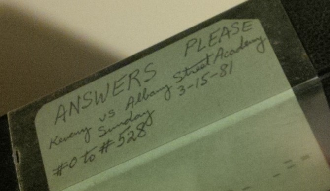 """""""I have that Answers Please episode on videotape…"""""""