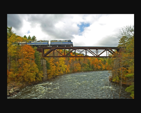 Saratoga and North Creek Railroad.  Nikon Df camera, Vivitar 19mm f3/.8 lens.  Photo by Chuck MIller.