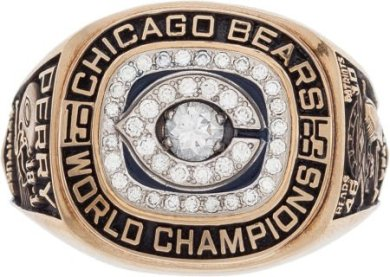 "William ""Refrigerator"" Perry Super Bowl ring, $203,150, purchased online through LiveAuctioneers.com in a 2015 Heritage auction. Image courtesy of LiveAuctioneers Archive and Heritage Auctions."