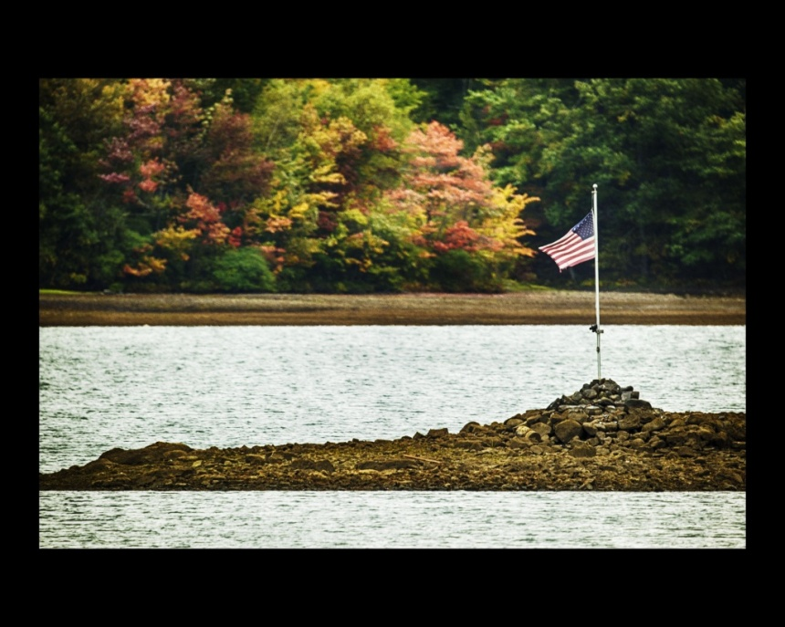 The Flag at Glass Lake 2. Nikon Df camera, MC MTO-1100 telephoto lens. Photo by Chuck Miller.