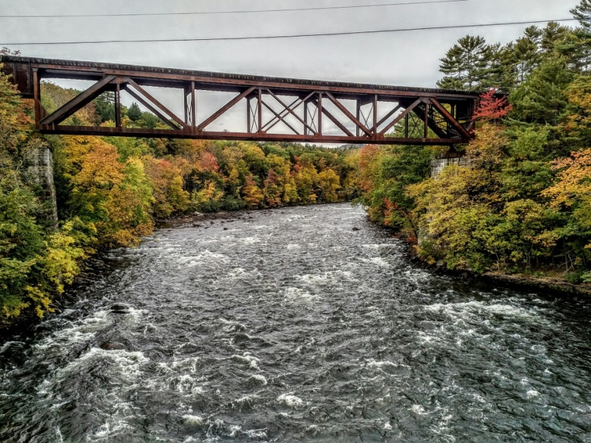 Spanning the Sacandaga River. BlackBerry PRIV camera phone. Photo by Chuck Miller.
