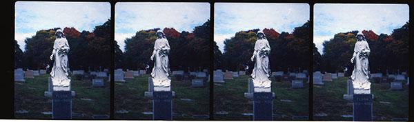 St. Agnes monument. Nimslo camera, Kodak Ektar 100 film. Photo by Chuck Miller.