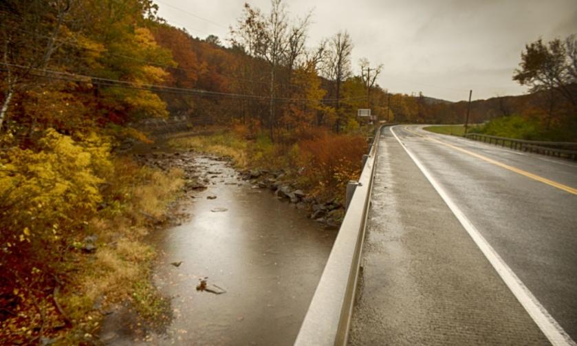 Trails of Catskill Creek. Nikon Df camera, Vivitar 19mm f/3.8 lens. Photo by Chuck Miller.