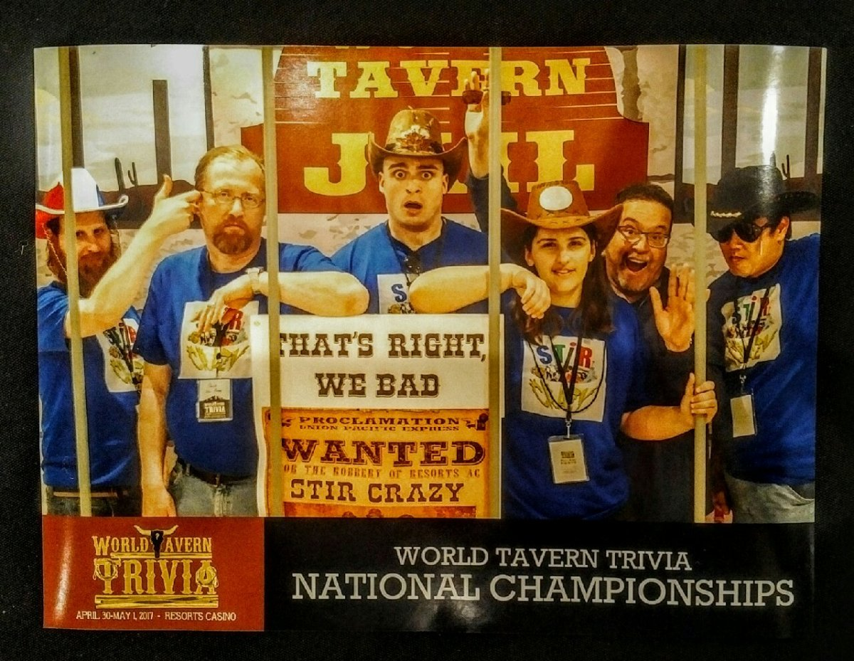 Results of the 2017 World Tavern TriviaChampionships