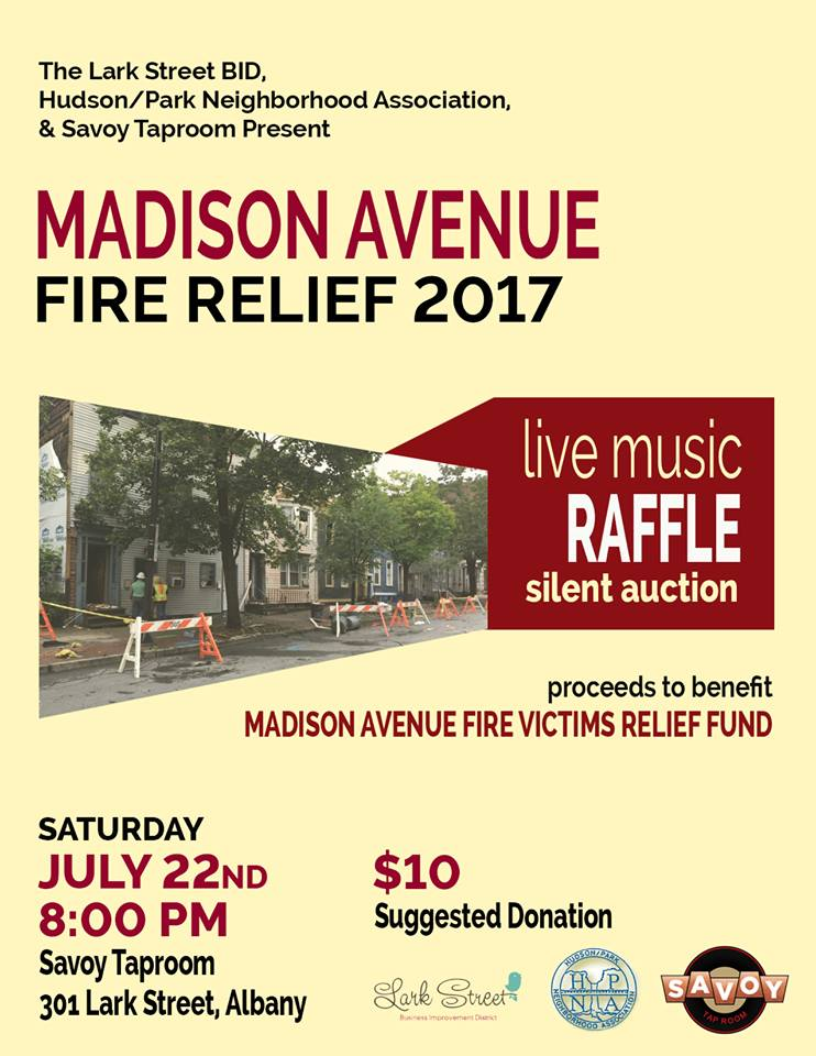 A fundraiser for the Madison Avenue fire relief