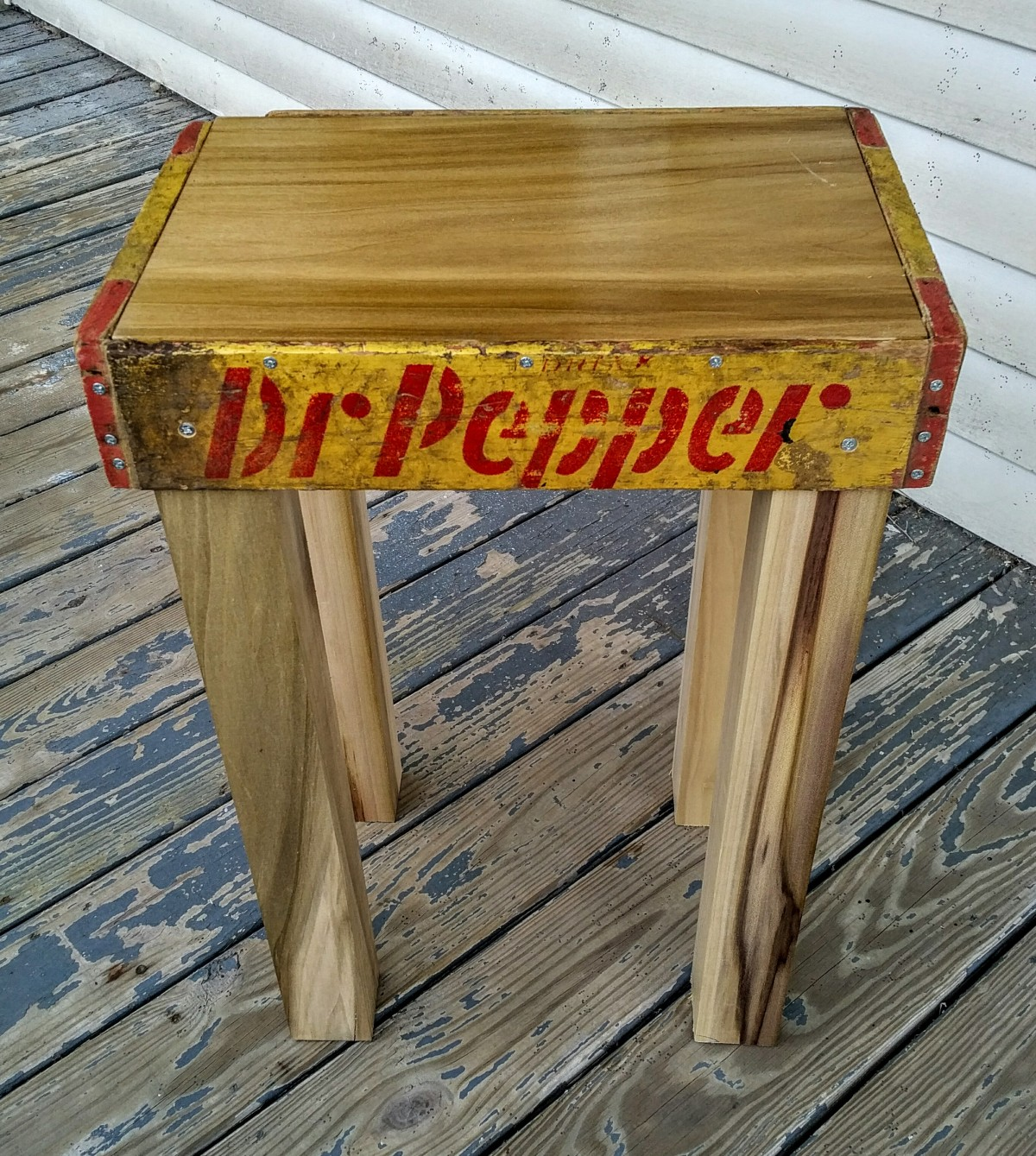 A table for a Dr. Pepper enthusiast