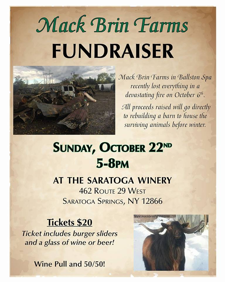 A fundraiser for Mack Brin Farms this Sunday